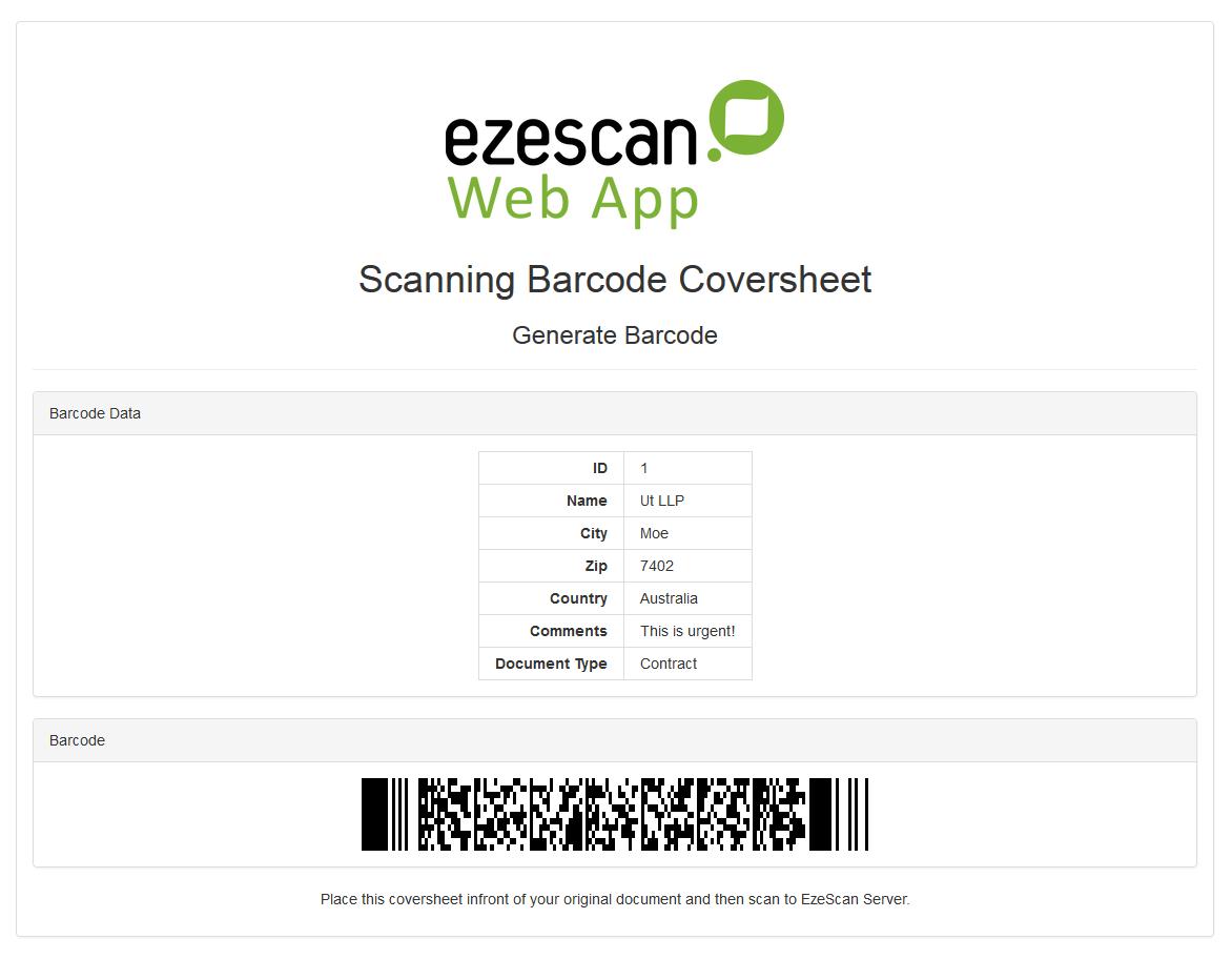 EzeScan BCG